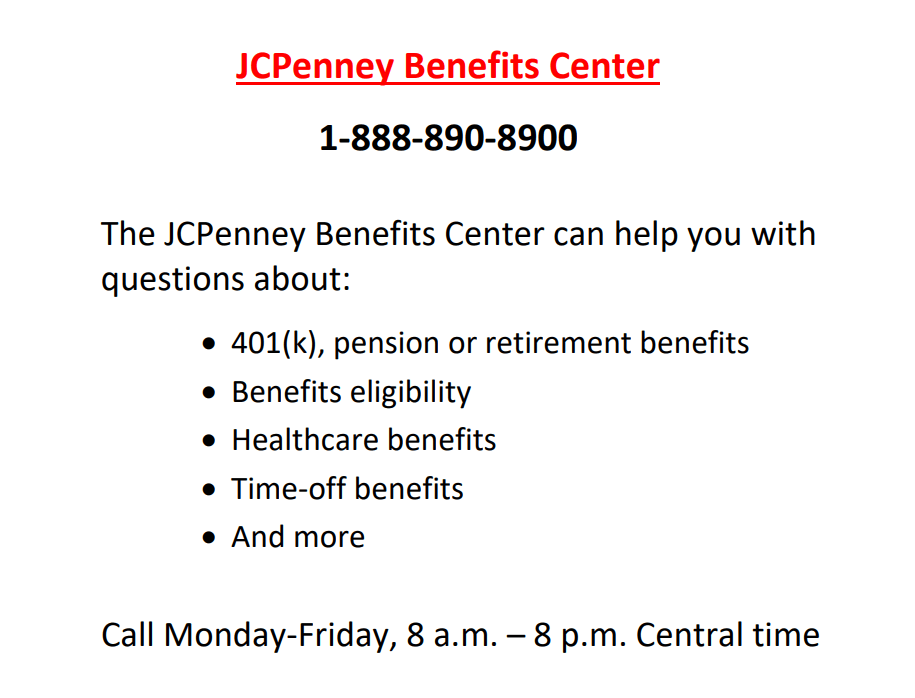 JCPenney Benefits Center